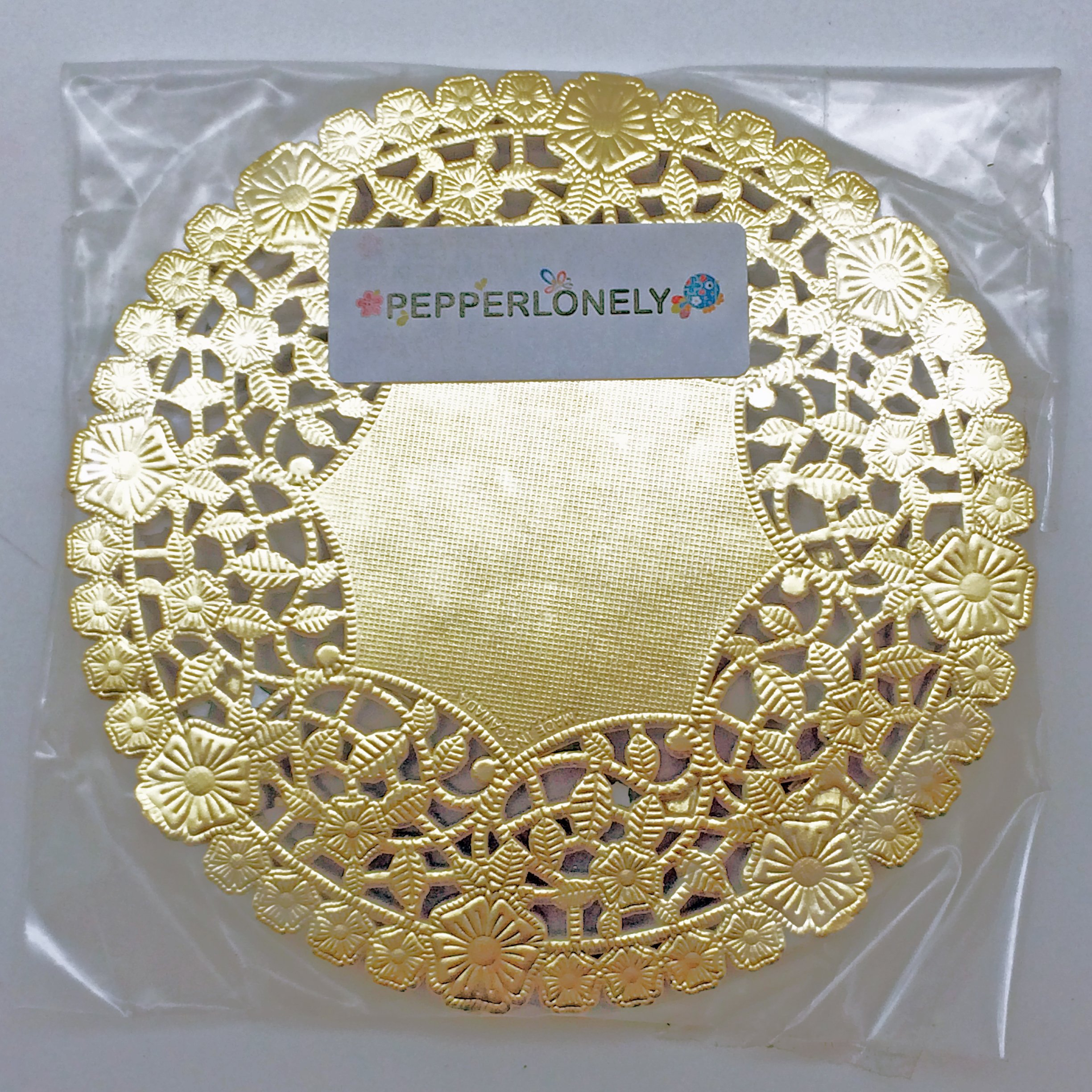 6 Inch Gold Round Lancaster Paper Doilies 100 Count