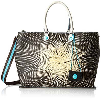 Damen Tania Tg M-Shopping Studio Print + Vela Business Tasche, Mehrfarbig (308-Maioliche), 14x26x37 cm Gabs