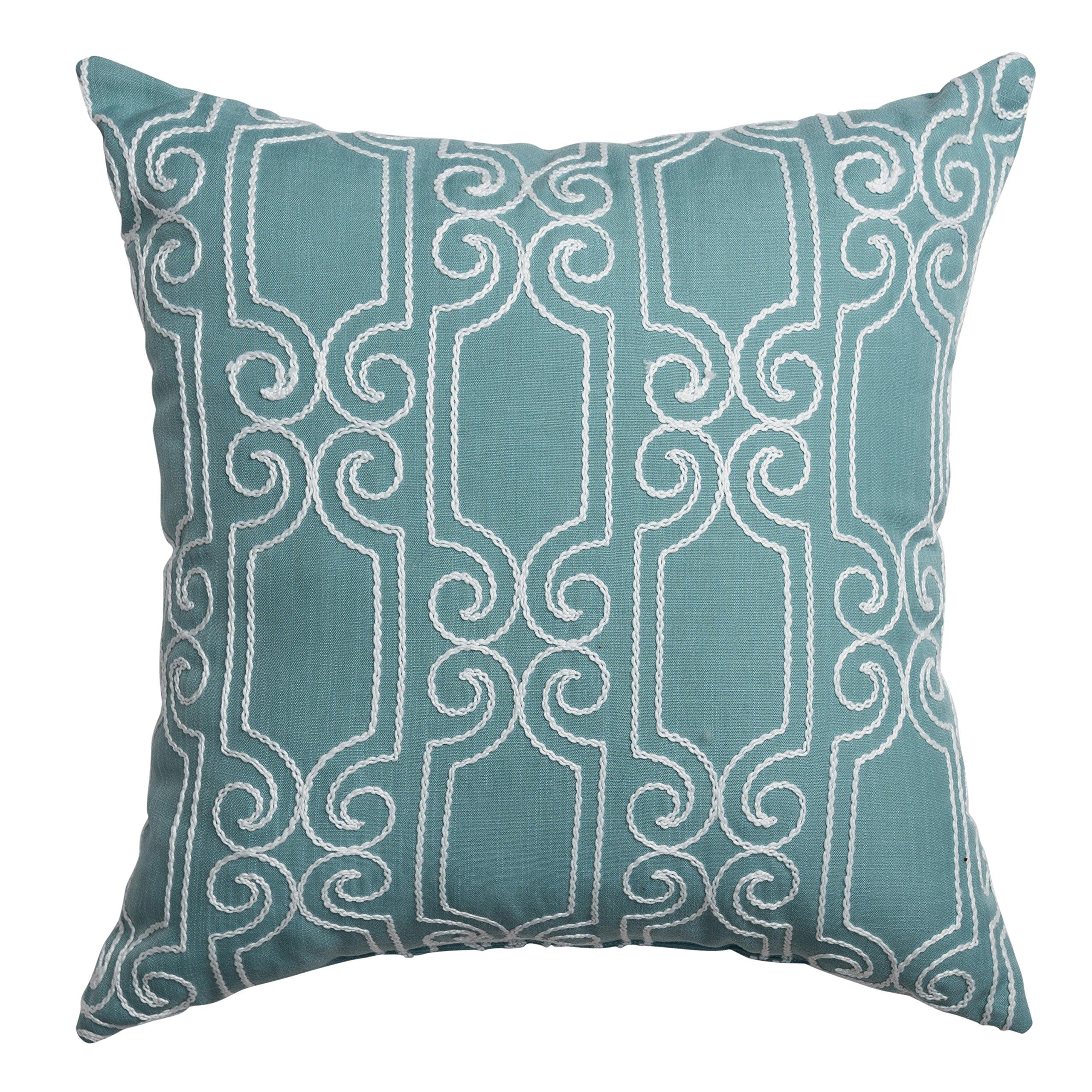 Softline Home Fashions 925BKR04738XPF Bexley Throw Pillow, Spa White