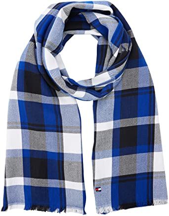 8aa7fb2f Tommy Hilfiger Men's Check Scarf Scarf, Blue (Blue Mix 903), One size