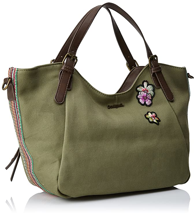 38118bf56aa1 Desigual Bols_rotterdam Pinday Women's Shoulder Bag Green (Kaki) 30x15x31  cm (B x H x T): Amazon.co.uk: Shoes & Bags
