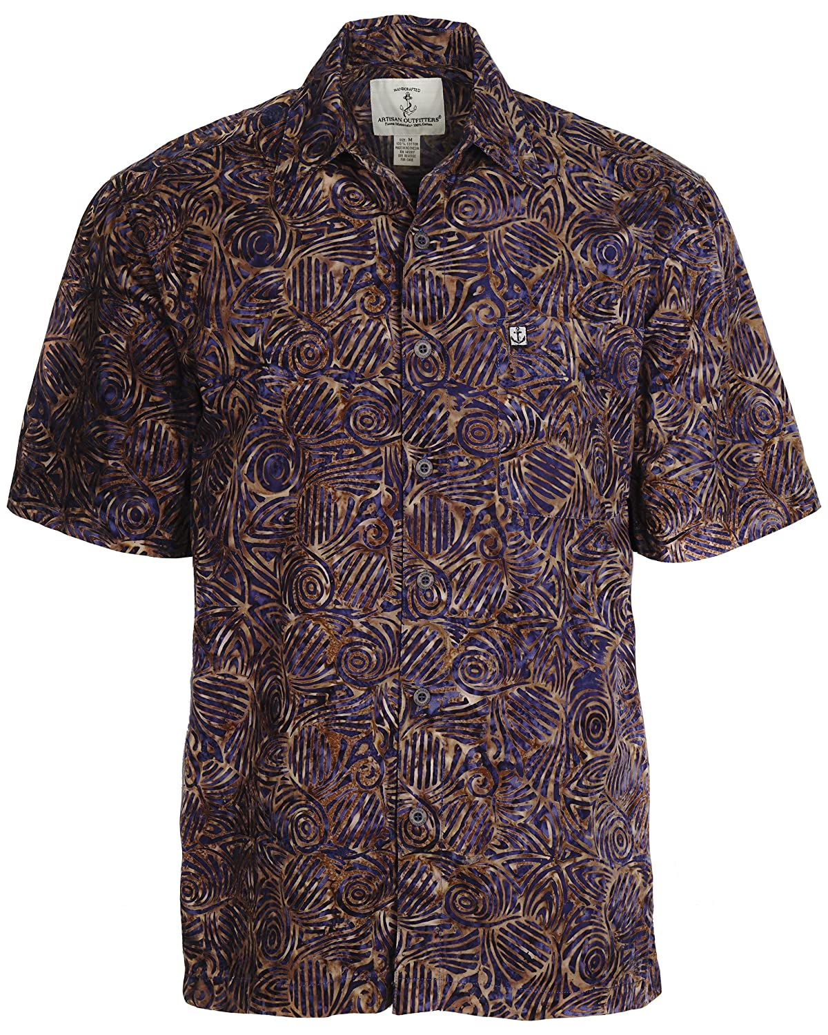 Artisan Outfitters Mens Serenity Batik Cotton Shirt A0214-41