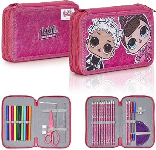L.O.L. Surprise! Estuche Escolar Para Niñas, With LOL Dolls Fresh and Fancy, Incluye 30 Accesorios Material Escolar de Las Muñecas Lol, Manualidades Para Niñas Regalos Originales: Amazon.es: Juguetes y juegos