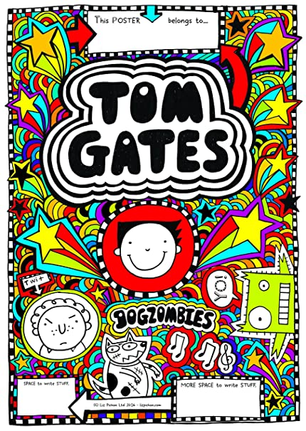 Tom Gates Official Signed Colour Poster + separate B&W copy for ...