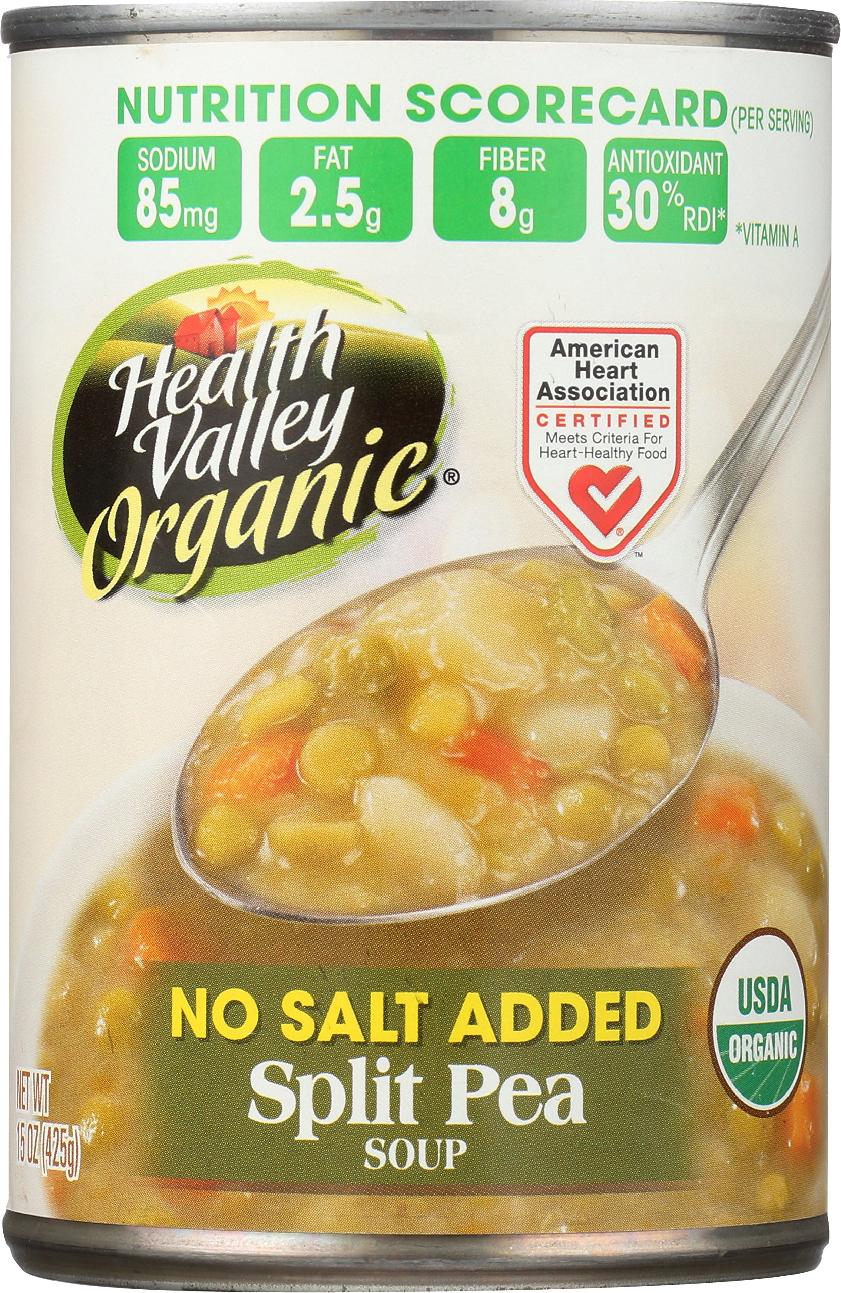 Health Valley Organic Soup, Split Pea, 15 Ounce (Pack of 12)
