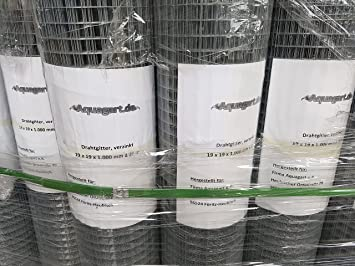 Aquagart® Volierendraht 20m x 1m, Drahtgitter Maschenweite 19mm ...