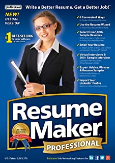 amazon com resumemaker professional deluxe 18 download software