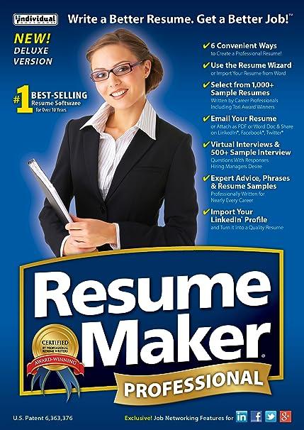 Amazon.com: ResumeMaker Professional Deluxe 19 [Download]: Software