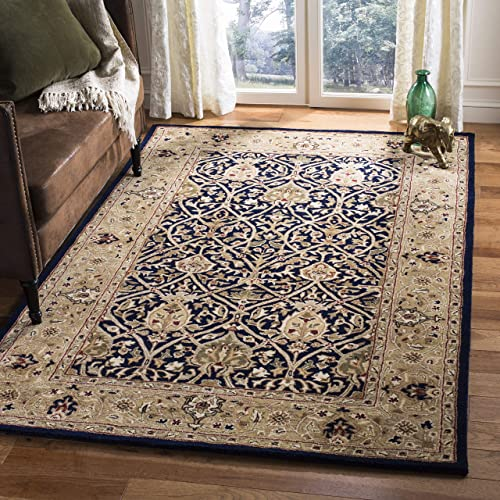 Safavieh Persian Legend Collection PL819C Handmade Traditional Blue and Gold Wool Area Rug 8'3″ x 11'