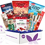 Beef Jerky Gift Box: Variety Of Healthy Beef Meat Sticks, Pork Rinds, Exotic Jerky, Epic Bars, Chomps Beef Sticks Great Beef