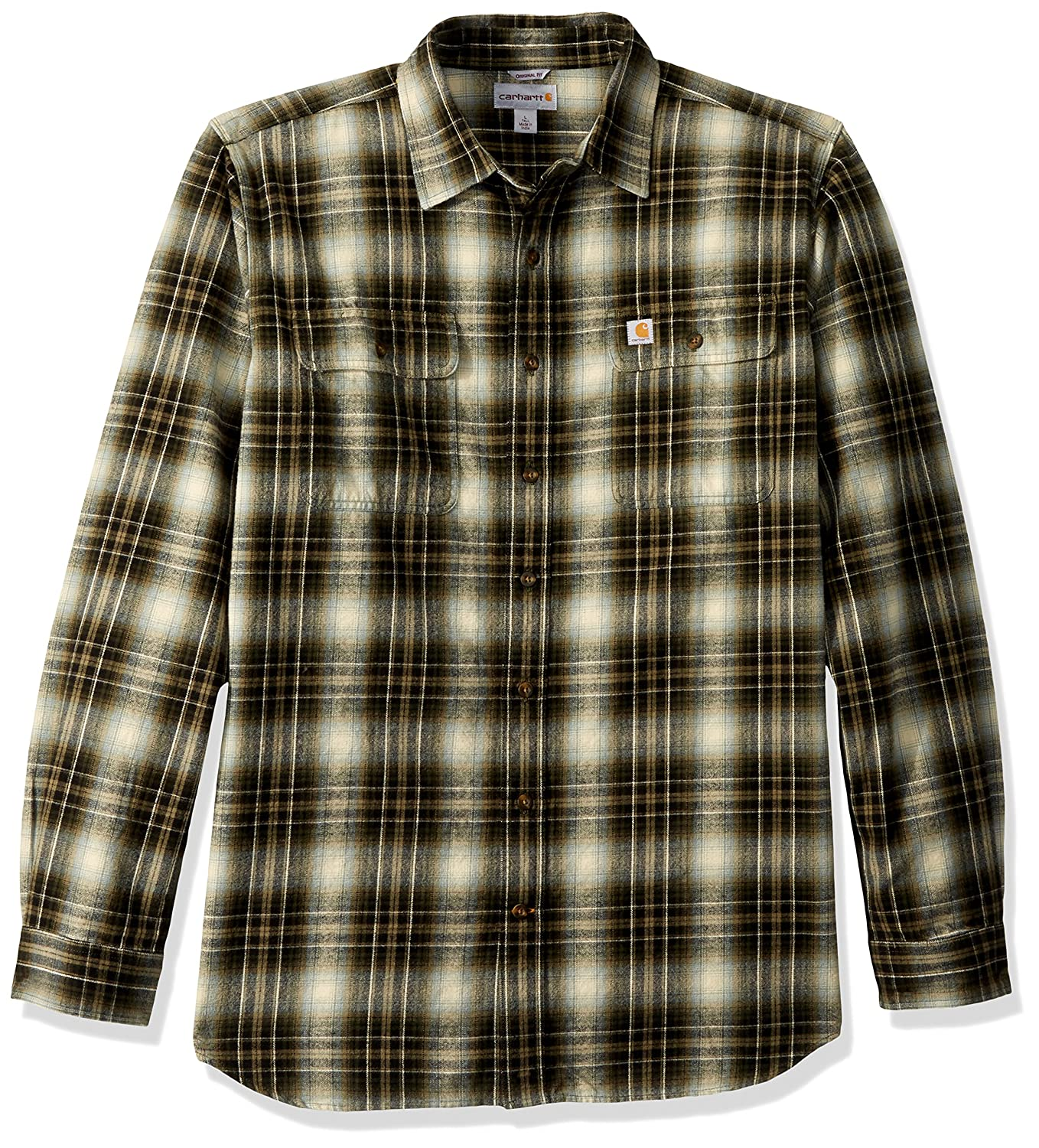 lowest discount where to buy best shoes Carhartt Men's Big & Tall Hubbard Plaid Flannel Shirt