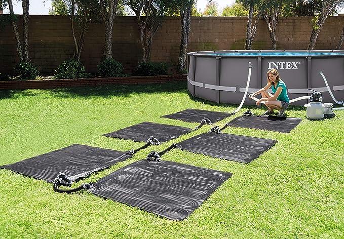 Intex 28685 - Alfombra calentador solar de agua 120 cm, Negro: Amazon.es: Jardín