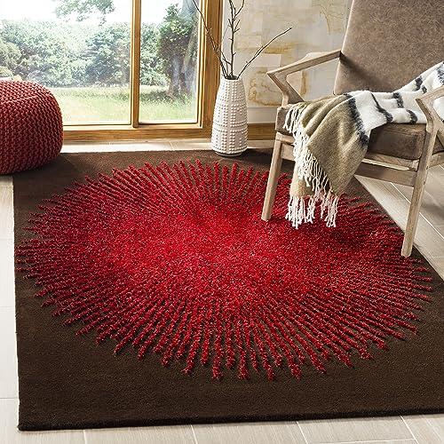 Safavieh Soho Collection SOH655T Handmade Premium Wool Viscose Area Rug