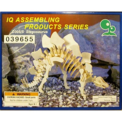 IQ Assembling Products Series Stegosaurus (Wooden 3-D Puzzle): Toys & Games