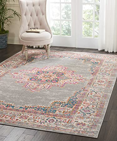 Amazon Com Nourison Psn03 Grey Passion Area Rug 6 7 X 9 6