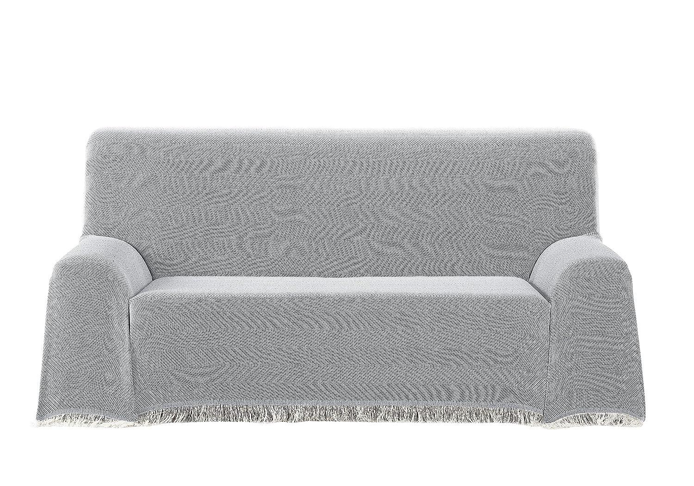 Martina Home Espiga - Foulard Multiusos, Crudo Gris, 180 x 260 cm