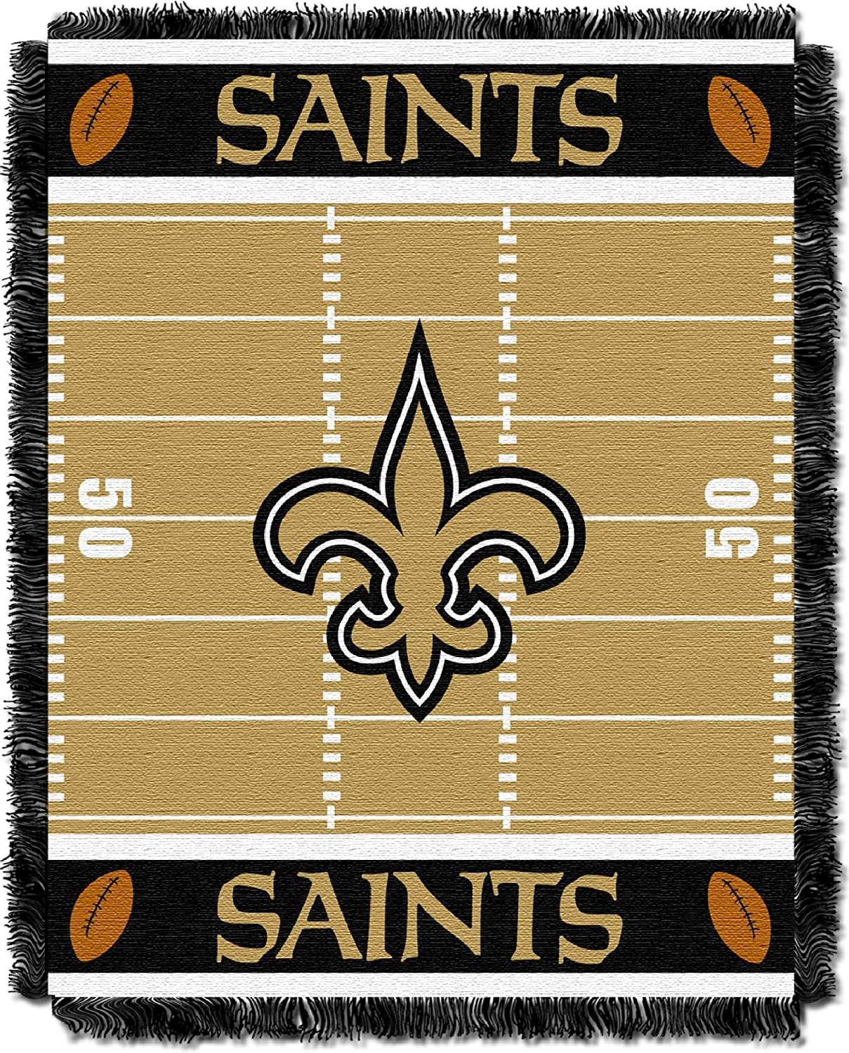 Officially Licensed NFL Field Woven Jacquard Baby Throw Blanket Multi Color 36 x 46