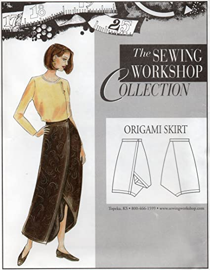 Amazon The Sewing Workshop Origami Skirt Sewing Template Multi