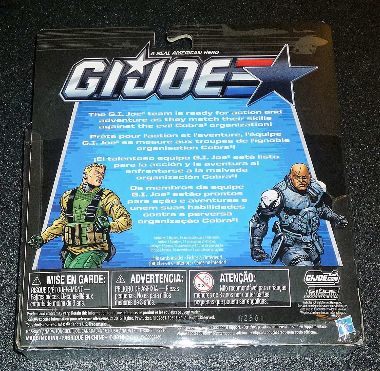 GI Joe, 50th Anniversary, Mission Accepted Action Figure Set (Duke vs Tombstone), 3.75 Inches