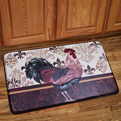 Memory Foam Anti Fatigue Kitchen Floor Mat - Rooster