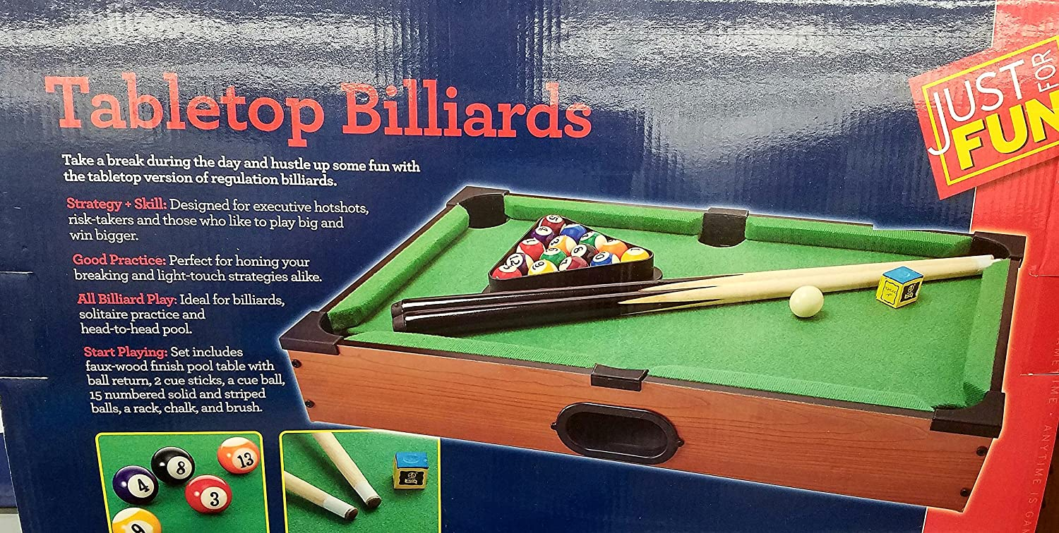 Amazon.com: Tabletop Pool (Billiards) Action Game By Just For Fun: Toys U0026  Games