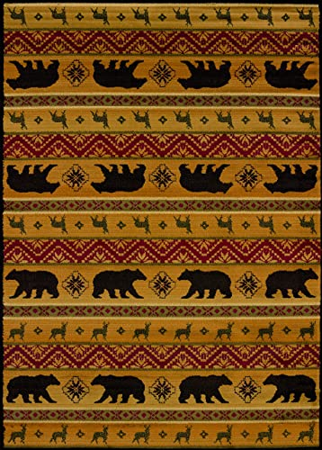 United Weavers of America Affinity Collection Nordic Bear Rug, 7-Feet 10-Inch by 10-Feet 6-Inch, Spice