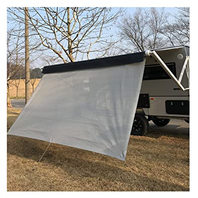 RV Awning Privacy Sun Shade Screen Complete Kits with UV Block (Grey, 12): Automotive