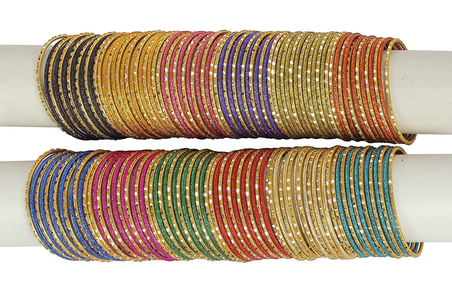 MUCH-MORE Glamorous Bollywood Fashion Indian Bangles Box Multi Color Party wear Bangles Jewelry