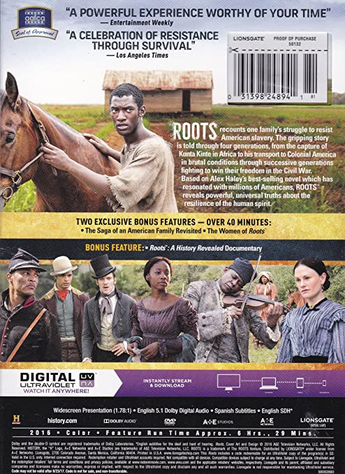 Amazon. Com: roots (2016) exclusive edition dvd with bonus special.