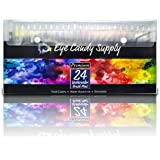 Real Watercolour Brush Pens, 24 Paint Markers with Flexible Brush Tips, Professional Pens for Painting, Calligraphy, Manga, 100% Nontoxic, Blendable, Vibrant, Leak-Proof Colours Eye Candy Supply