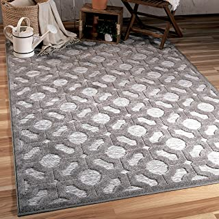"""product image for Orian Rugs Boucle' Huron Silverton Area Rug 5'2"""" x 7'6"""", Grey"""
