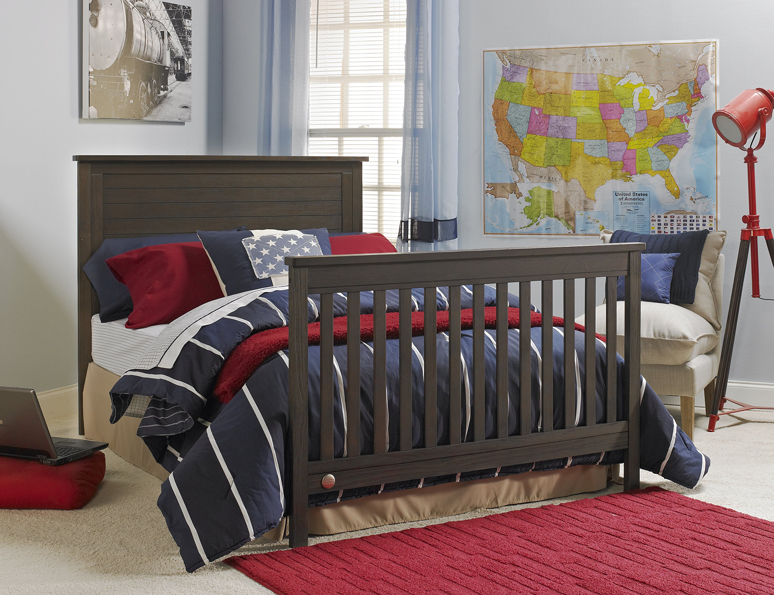 Fisher-Price Quinn 4 in 1 Convertible Crib, Wire Brushed Brown by Fisher-Price (Image #5)