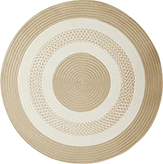 """product image for Crescent Round Area Rug, 10"""", Linen"""