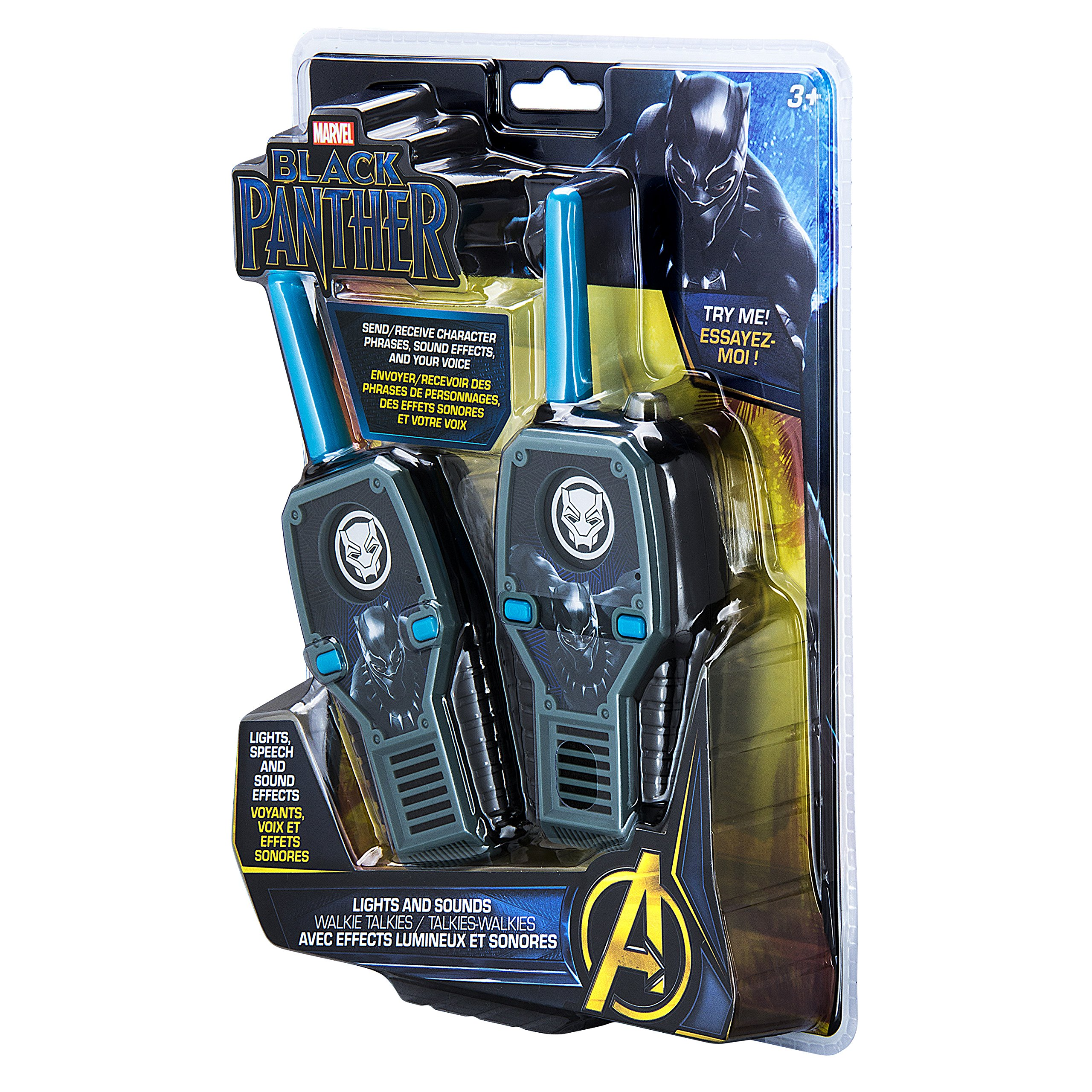 eKids Black Panther FRS Walkie Talkies with Lights & Sounds Kid Friendly Easy to Use by eKids (Image #8)