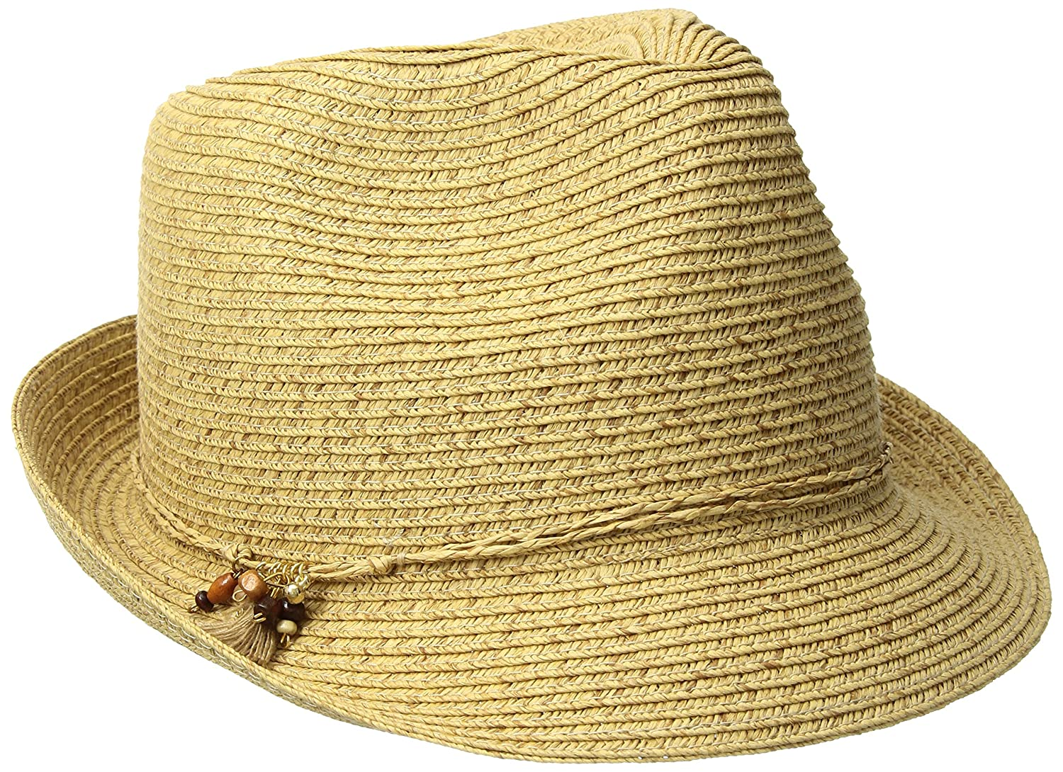 Nine West Women's Packable Fedora Hat, Natural Heather, One Size N218-128NW.LTS