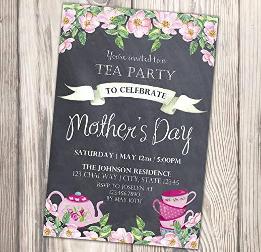 Amazon Com Mother S Day Tea Party Invitation Mommy And Me Invite