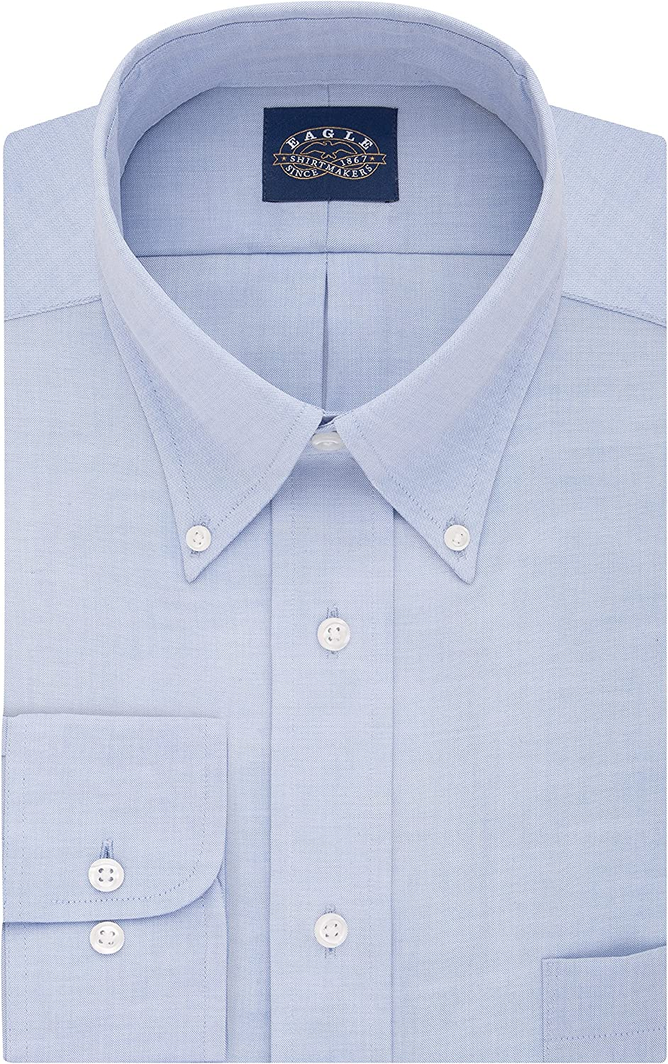 Eagle BIG FIT Dress Shirts Non Iron Stretch Button Down Collar Solid (Big and Tall): Clothing