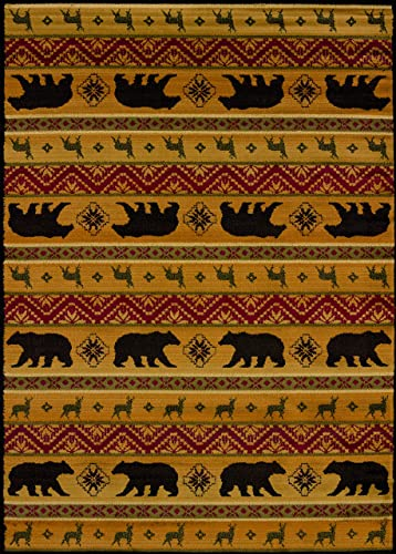 United Weavers of America Affinity Collection Nordic Bear Rug
