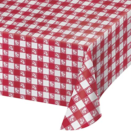 Amazon Com Creative Converting Paper Banquet Table Cover Red