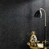 Graham & Brown 32-659 Superfresco Easy Crocodile Black Wallpaper