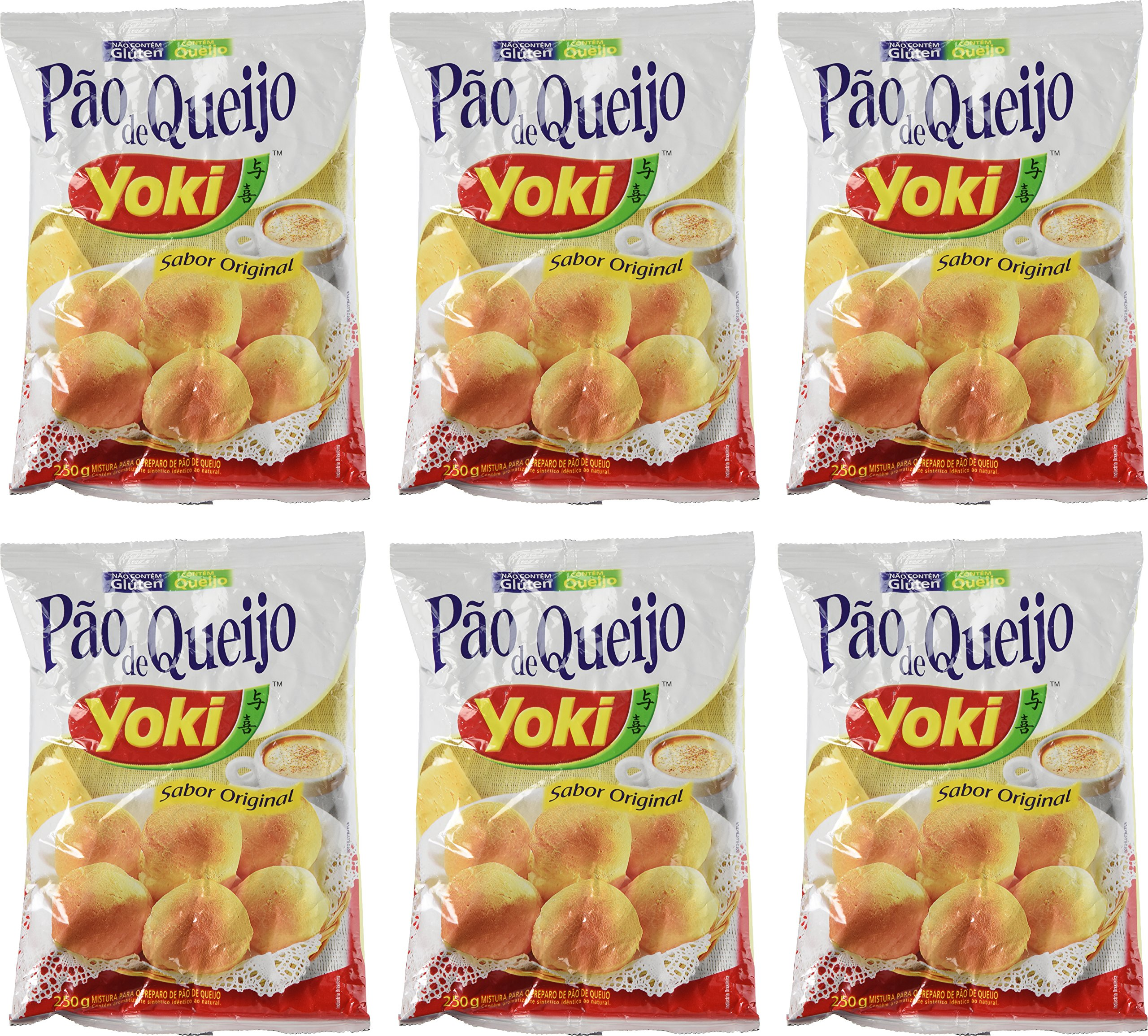 Cheese Bread Mix - Mistura para Pão de Queijo - Yoki - 8.80 oz (250g) - GLUTEN-FREE - (PACK OF 06) by Yoki (Image #1)