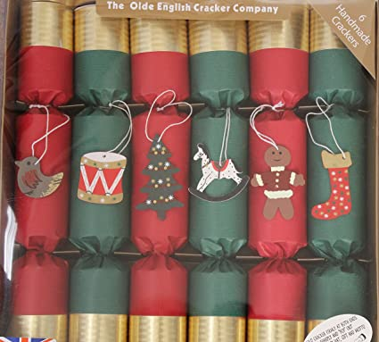 Old English Cracker Company Red Green Crackers With Stocking