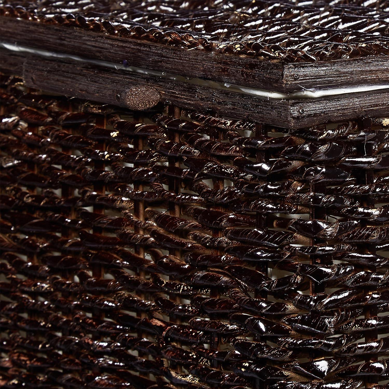 39 x 60 x 37,5 cm Flechtoptik mit Deckel 71 L Korbtruhe mit herausnehmbarem Innenfutter Aufbewahrungstruhe atmungsaktiv stapelbare W/äschetruhe Natur Relaxdays 3er Set Buri H x B x T honigbraun