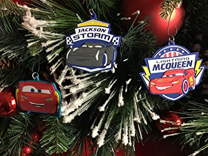 Disney Cars Christmas Decorations.Amazon Com Disney S Pixar Cars 3 Christmas Tree Ornament