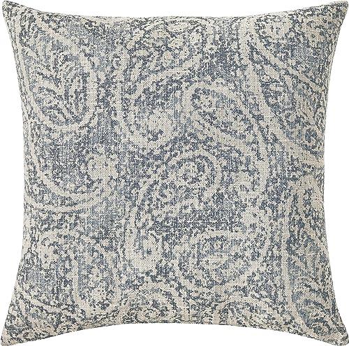 Amazon Brand Ravenna Home Vintage Throw Pillow – 20 x 20 Inch, Slate
