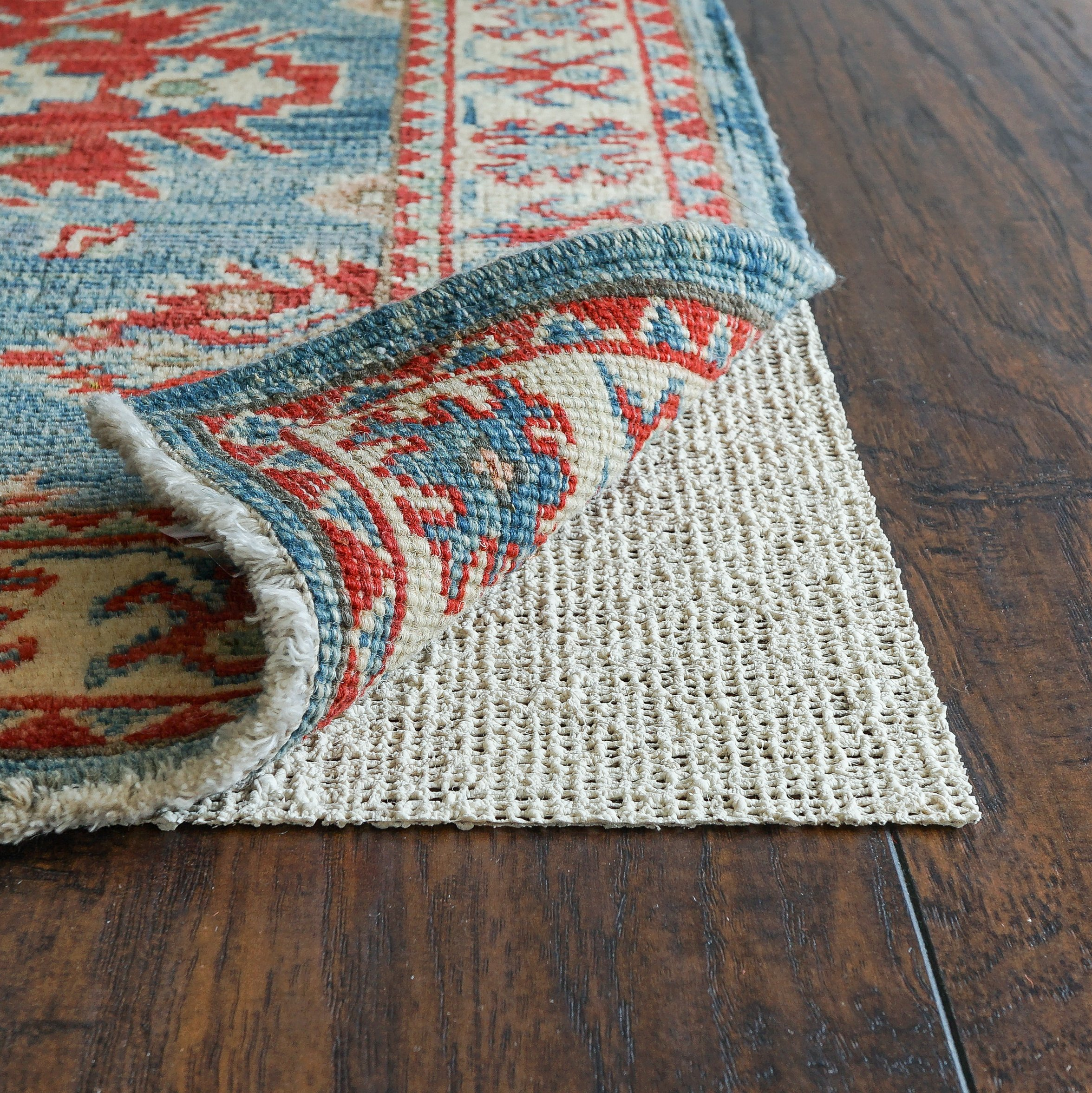 Rug Pad USA, Nature's Grip, Eco-Friendly Jute & Natural Rubber Non-Slip Rug Pads, 2' x 3'