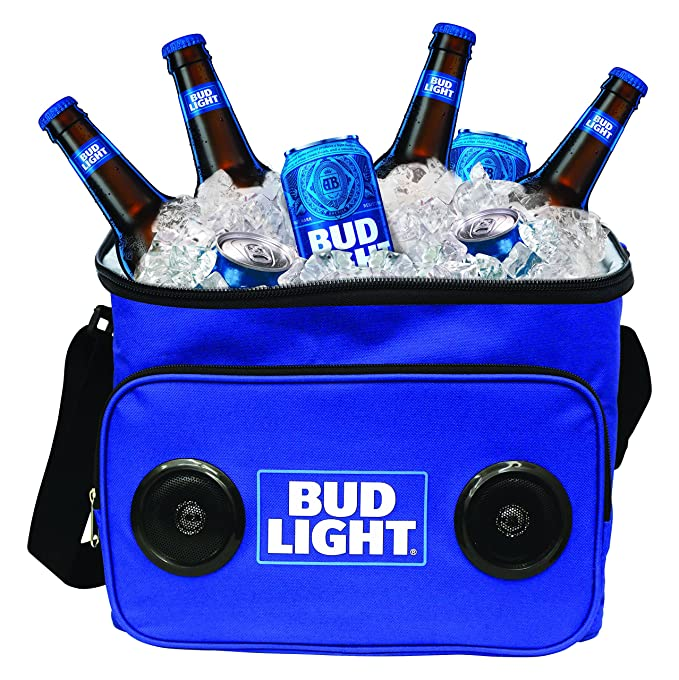 Superb Bud Light Soft Cooler Bluetooth Speaker Portable Travel Cooler With Built  In Speakers BudLight Wireless Speaker