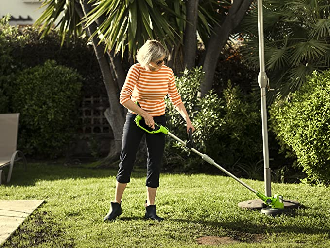 Greenworks Tools Cordless Grass Trimmer G24lt30m Deluxe Li Ion 24