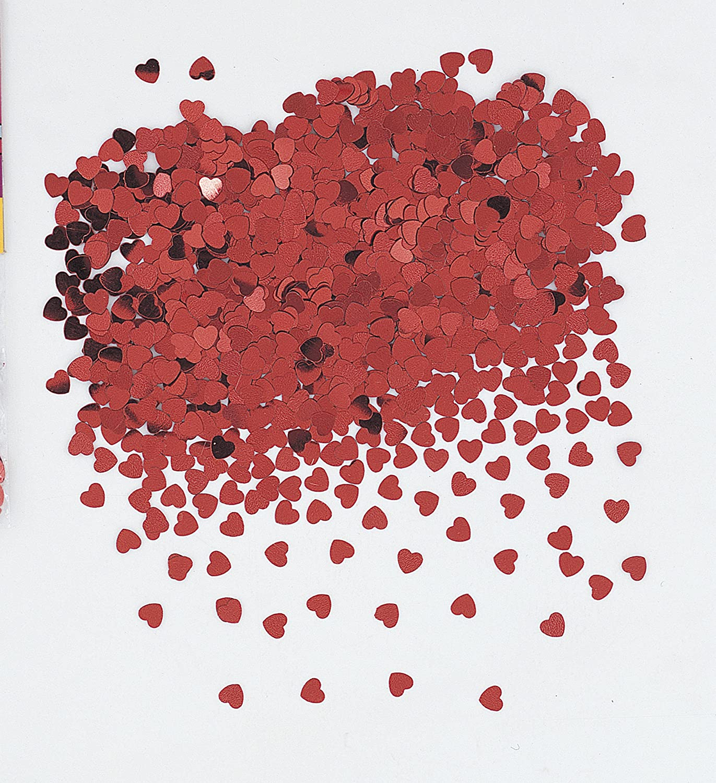 Unique Party 90352 - Red Heart Confetti: Amazon.co.uk: Toys & Games