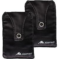 ALPAMAYO® 2-piece bra stash set, anti theft body wallet for your valuables, money, debit cards, black